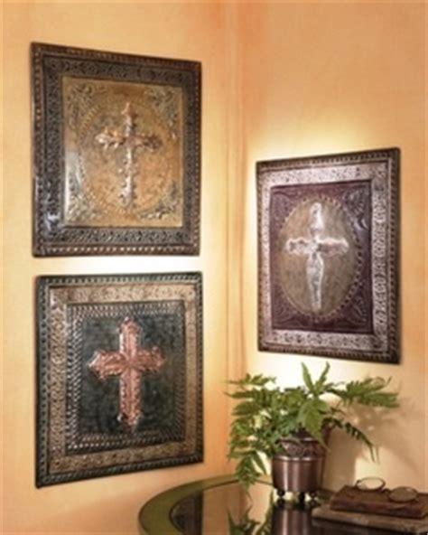 tuscan world set of 3 large plaques with crosses