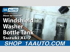 How To Install Replace Windshield Washer Bottle Tank ... 2009 Crv Parts
