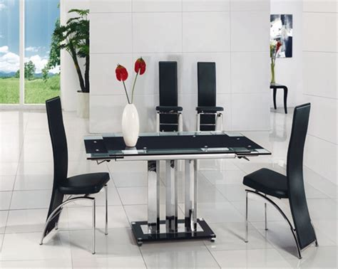 extending glass table dining table and chairs