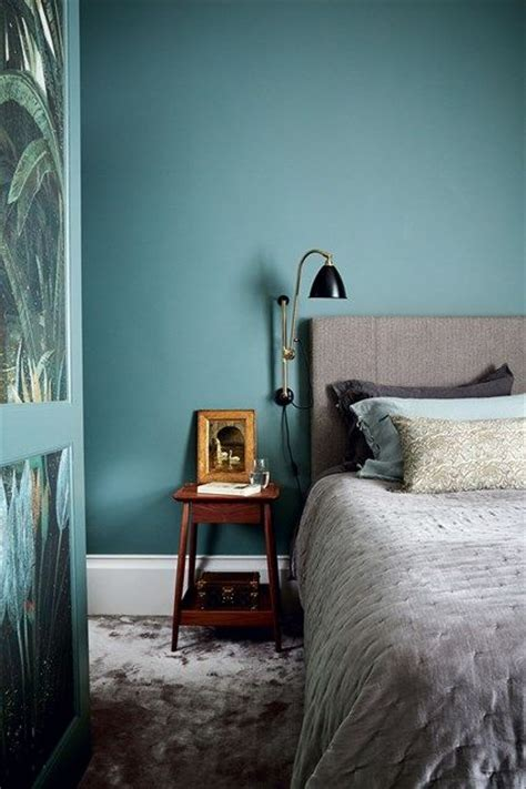 contemporary teal bedroom