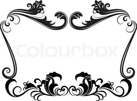 vintage floral frame powerpoint templates black border vintage circus clip art borders stock vector of black