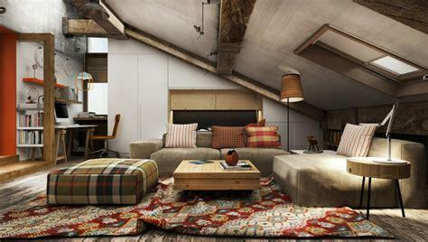 wohnzimmer junggeselle wohnideen mit dachschr 228 ge in k 252 che bad wohn schlafzimmer