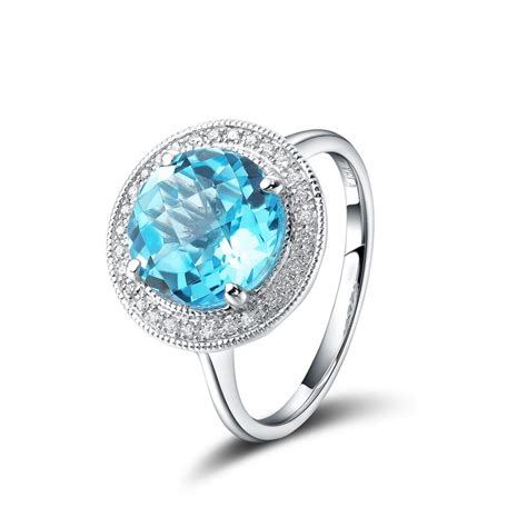 Bling Ring From Accessorize by Bling Jewelry Ring Oval Blue Sapphire Color Cz Engagement