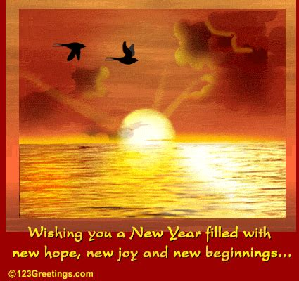 new hope new beginnings on new year free happy new year