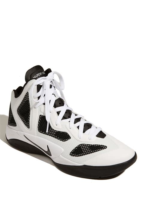 hyperfuse nike basketball shoes nike zoom hyperfuse basketball shoe in white for