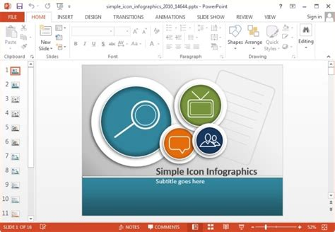 simple infographic template simple icons infographic template for powerpoint and keynote