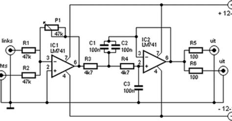 high pass filter subwoofer subwoofer filter and low pass filter with lm741 circuit wiring