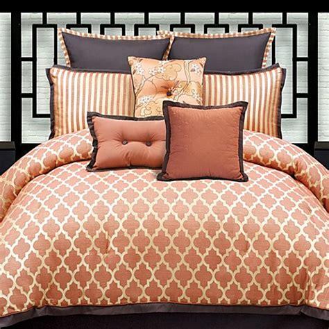 peach comforter set aiden 6 piece comforter set bed bath beyond