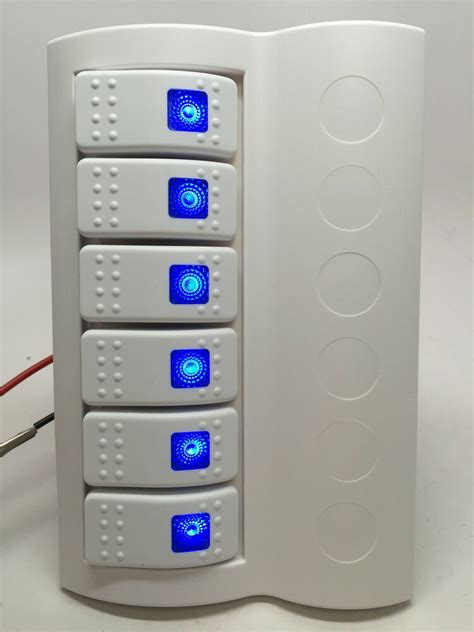 switch panel for a boat marine boat waterproof white switch panel circuit breaker
