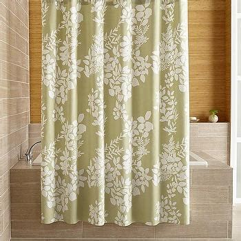 Curtains Botanical Print Botanical Silhouette Print Gray Shower Curtain