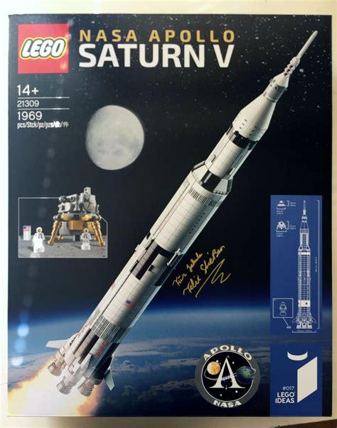 Interiors Designing by Brickfinder Lego Ideas Saturn V Apollo Rocket Set Designer Signing