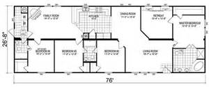 5 Bedroom Double Wide Floor Plans by 5 Bedroom Mobile Home Images Tours Manufactured Home And