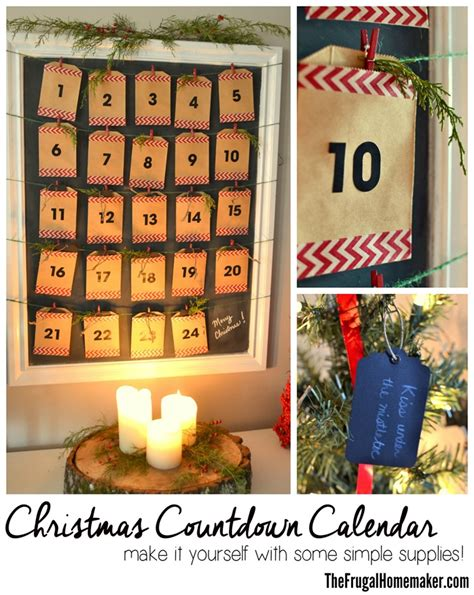 diy christmas countdown calendar advent calendar