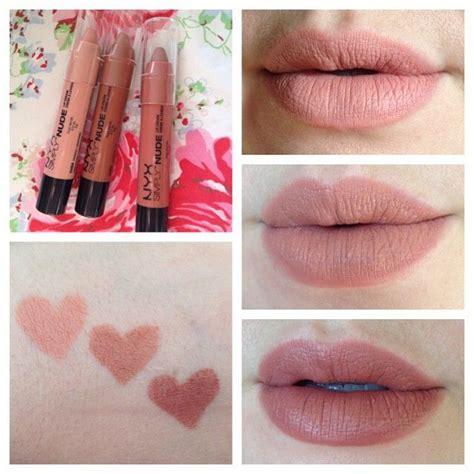 Lipstik Nyx Simply nyx simply lip creams in sn04 fairest top right