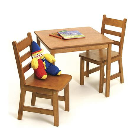 childrens wooden table and chairs pecan in furniture