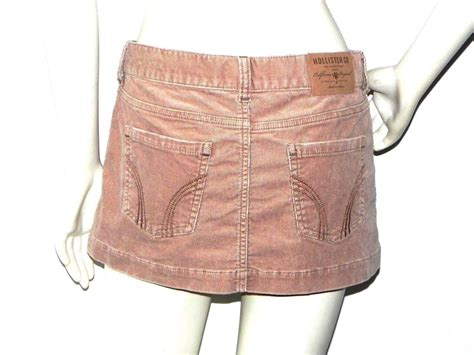 hollister co stretch mini pencil skirt corduroy