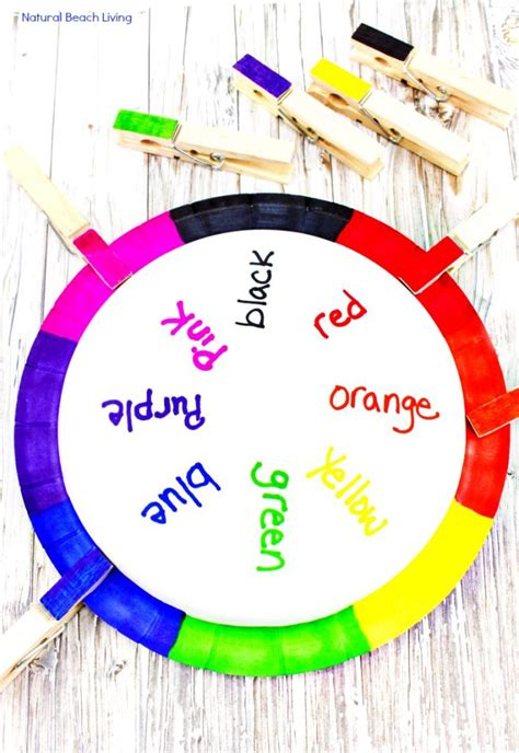 teaching colors teaching colors activities easy diy color matching craft