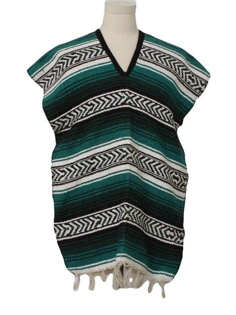 fabric pattern poncho retro 80 s jacket 80s molina indian blanket mexico