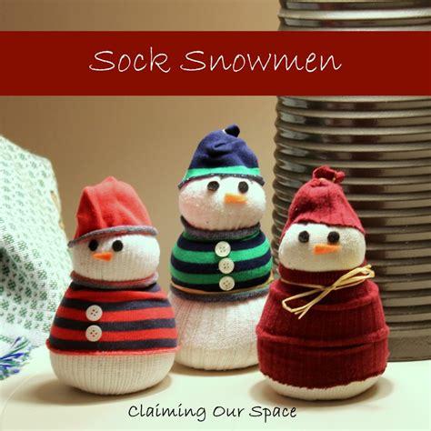 sock snowman how to make them 15 creative tutorials for sock snowmen
