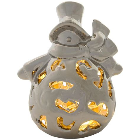 Battery Operated Decorations by Festive Porcelain Light Up Battery Operated Warm White Led