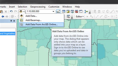 source for arcgis layout templates geographic arcmap insert an online map source from a website into