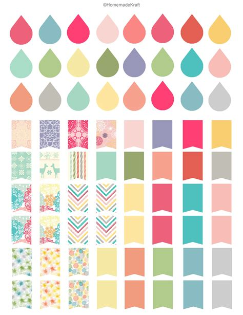 printable homemade stickers free sticker printable filofax dew drops and erin condren