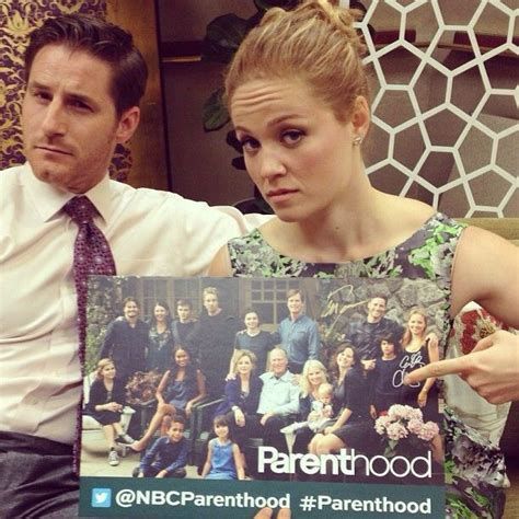 joel and erika christensen parenthood sam jaeger and erika christensen take parenthood very