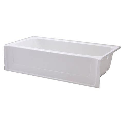 5 ft bathtub sterling all pro 5 ft right drain bathtub in white