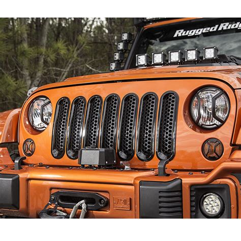 Rugged Ridge Mesh Grille Insert by Wranglers Jk Mesh Grille Inserts Rugged Ridge 11306 31