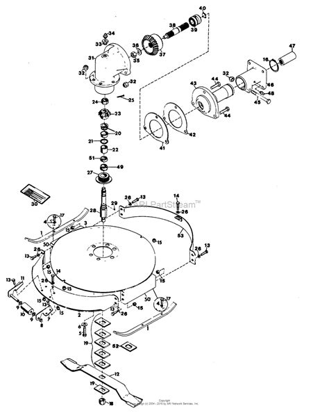 gravely mower parts diagram gravely 32443 30 quot deck 2 wheel tractor parts diagram for