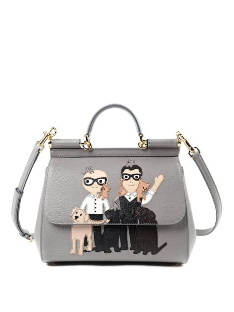 G Bag sicily medium tote with dg family by dolce gabbana