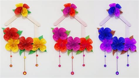 paper flower wall tutorial diy wall hanging with paper flower paper flower