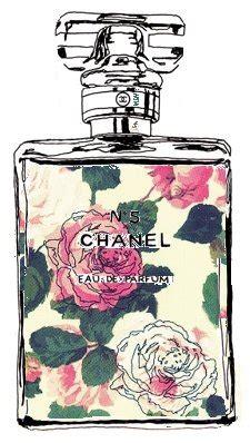Chanel 921 Sz 28x10x17cm chanel fashion floral illustration perfume image 278491 on favim