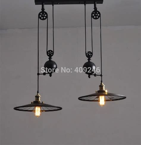 Pulley Ceiling Light Loft Edison Industrial Retro Droplight End Mirror Pulley Lifting Pendant Ceiling Light Jpg