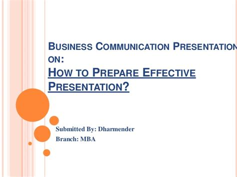 Business Communication For Mba Students Ppt by How To Prepare And Deliver Effective Presentation