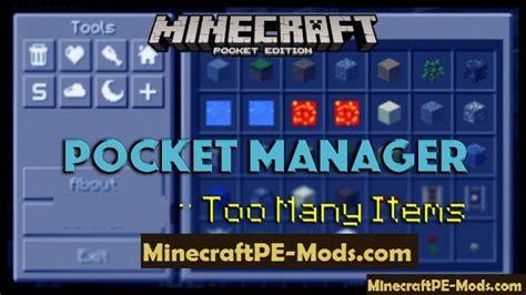 minecraft pocket edition 0 8 1 apk pocket manager apk mod for minecraft pe 1 2 10 1 2 0 1 1 5 1 1 4