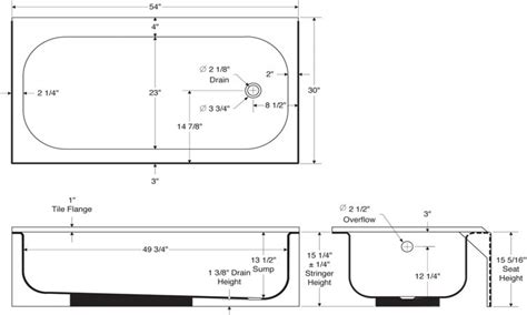 standard size bathtub what are the dimensions of a standard bathtub 28 images