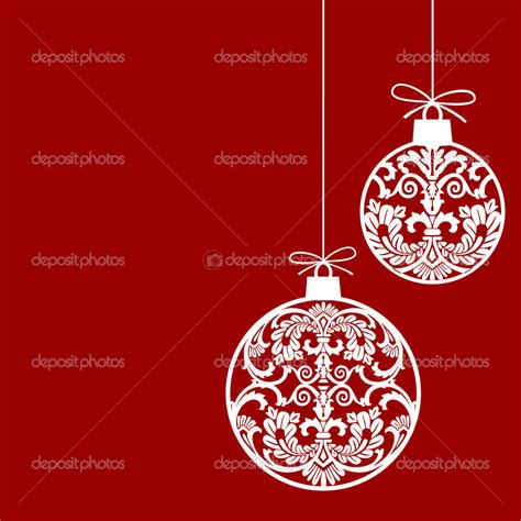 chistmas balls ornaments balls invitation template