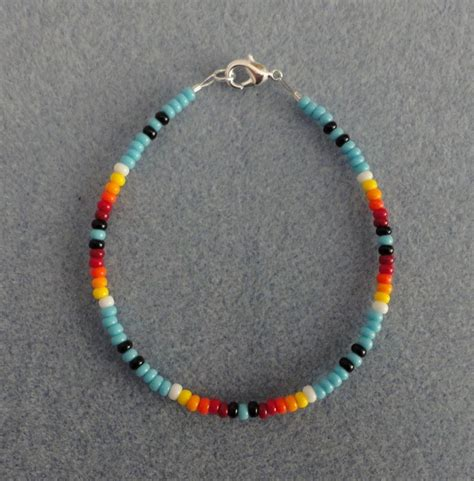 how to make indian beaded bracelets blue turquoise beaded bracelet american all size ebay
