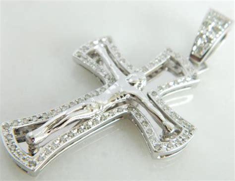 14k White Gold Cross Pendant 14k white gold cross pendant crucifix pendant ebay