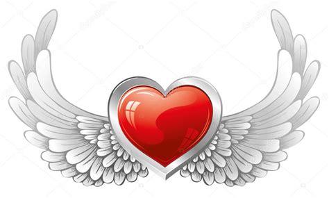 imagenes de corazones goticos con alas coraz 243 n con alas vector de stock 16787163 depositphotos