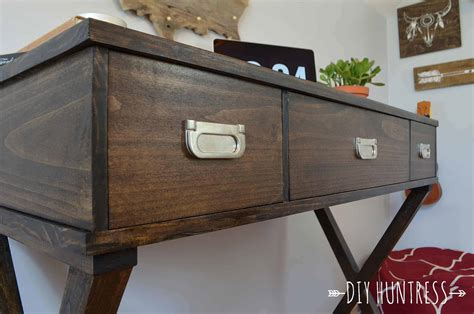 diy desk drawers diy x leg desk with drawers diy huntress