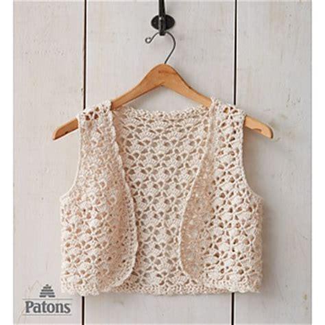 patons pattern library ravelry seashell crochet vest pattern by patons