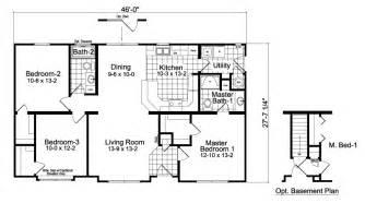 3 Bedroom Ranch Floor Plans by Modular Homes Oakdale 3 Bedroom 2 Bath
