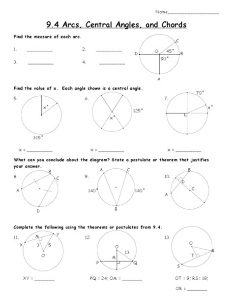 Inscribed Angles Worksheet Answers by Inscribed Angles Worksheet Lesupercoin Printables Worksheets