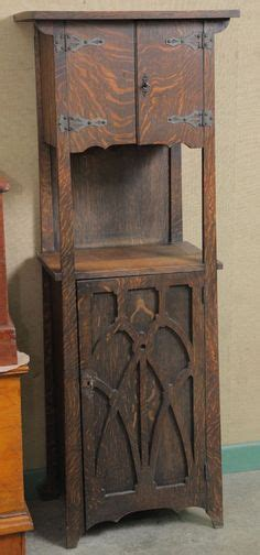 mission style liquor cabinet rustic bread box wooden vegetable bin storage primitive