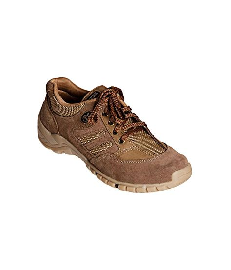 khadim s khaki lace up outdoor casual shoes buy