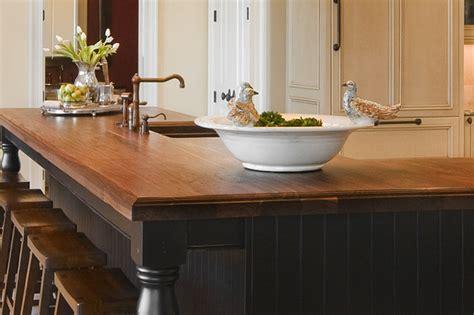Kitchen Countertops Atlanta by Heritage Wood Bar Countertops In Walnut Traditional