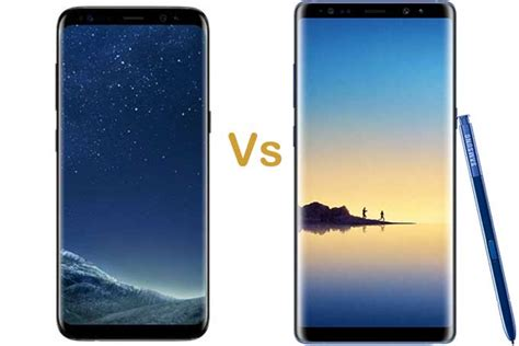 samsung galaxy note 8 vs samsung galaxy s8 plus differences buying guides specs product