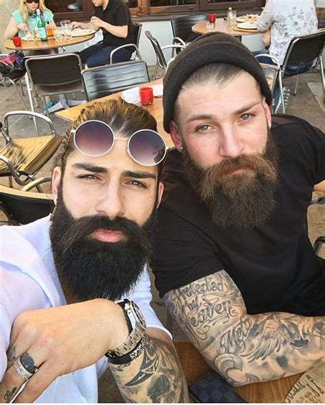 tattooed bearded couple 474 best gay couples kissing cuddling images on